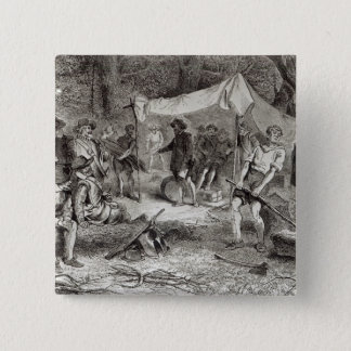 The First Day at Jamestown Pinback Button