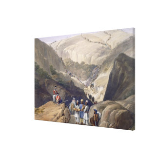 The First Descent Through the Koojah Pass, from 'S Canvas Print