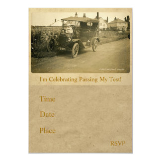 The First Driving Lesson Invitation