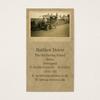 The First Driving Lesson Standard Business Card
