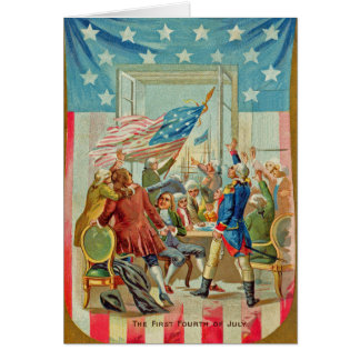 The First Fourth Of July Vintage Greeting Card