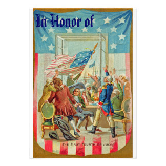 The First Fourth Of July Vintage Invitation