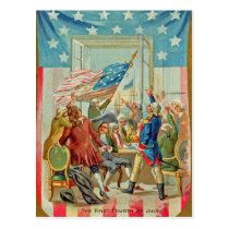 The First Fourth Of July Vintage Postcard