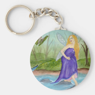 The First Games of Spring fairy butterfly Keychain Basic Round Button Keychain