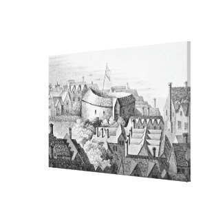 The First Globe Theatre or Rose Theatre Canvas Print