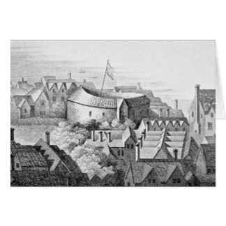 The First Globe Theatre or Rose Theatre Card