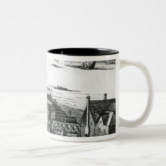 The First Globe Theatre or Rose Theatre Two-Tone Coffee Mug