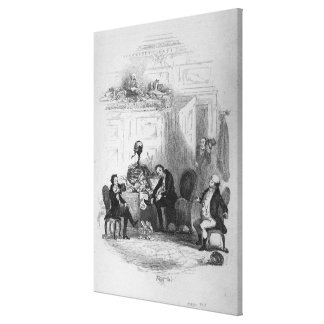 The First Interview with Mr. Serjeant Snubbin Canvas Print