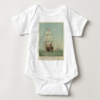 The First Journey of the H.M.S. Victory in 1778 Baby Bodysuit
