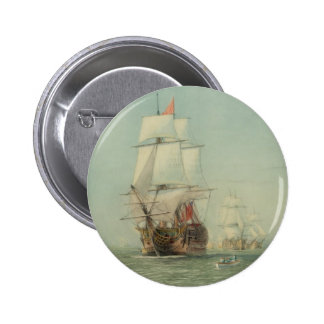 The First Journey of the H.M.S. Victory in 1778 Button