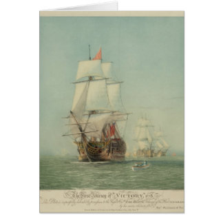 The First Journey of the H.M.S. Victory in 1778 Greeting Card