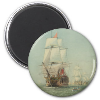 The First Journey of the H.M.S. Victory in 1778 Magnet