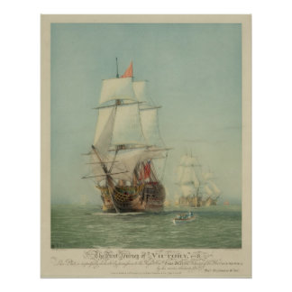 The First Journey of the H.M.S. Victory in 1778 Print