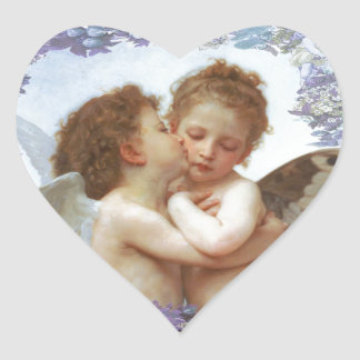THE FIRST KISS, C.1873 William Bourgeau Heart Sticker