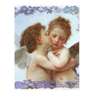 THE FIRST KISS, C.1873 William Bourgeau Postcard