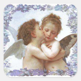 THE FIRST KISS, C.1873 William Bourgeau Square Sticker