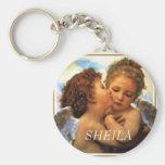 the First kiss  cherubs, SHEILA Keychains