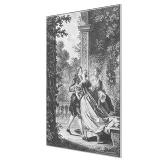 The first kiss of love canvas print
