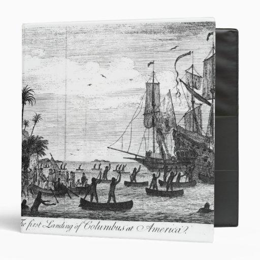 The First Landing of Columbus at America 3 Ring Binders
