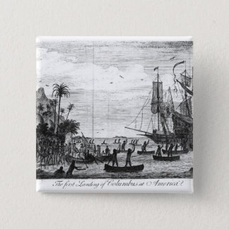 The First Landing of Columbus at America Button
