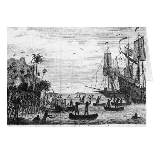The First Landing of Columbus at America Greeting Cards