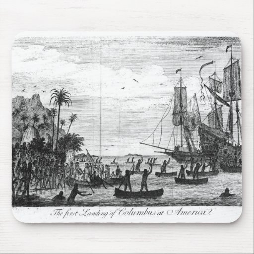 The First Landing of Columbus at America Mouse Pads