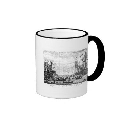 The First Landing of Columbus at America Mugs