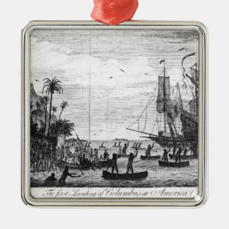 The First Landing of Columbus at America Christmas Ornament