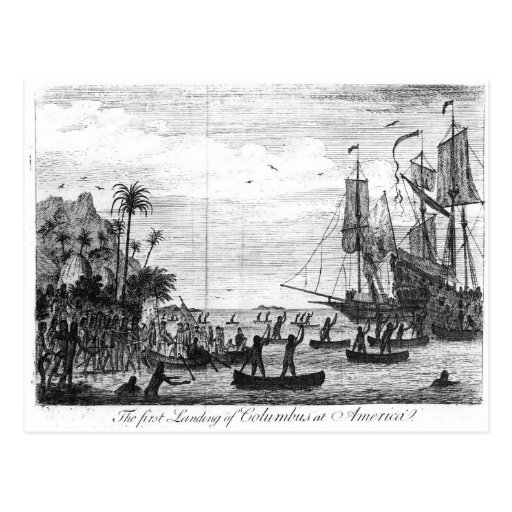 The First Landing of Columbus at America Postcards