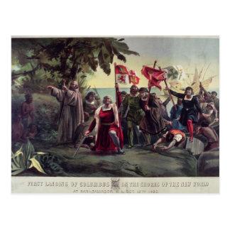 The First Landing of Columbus Postcard