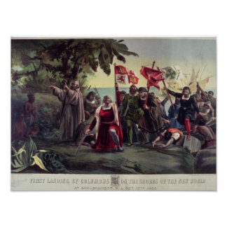 The First Landing of Columbus Posters