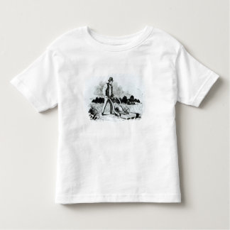 The first lawnmower (engraving) (b/w photo) toddler t-shirt