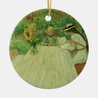The First Lesson, 1903 Ceramic Ornament