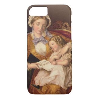 The First Lesson, pub. by Baxter, 1855 () iPhone 7 Case