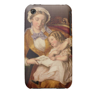 The First Lesson, pub. by Baxter, 1855 (print) iPhone 3 Case-Mate Case
