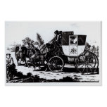 The First Mail Coach, 1784 Poster