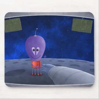 The First Man Welcoming Aliens Mouse Pad