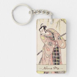 The First Nakamura Nakazo as a Samurai Standing Double-Sided Rectangular Acrylic Keychain