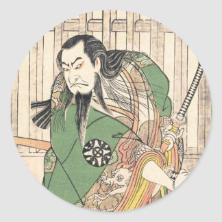The First Nakamura Nakazô in the role of Hige no Classic Round Sticker