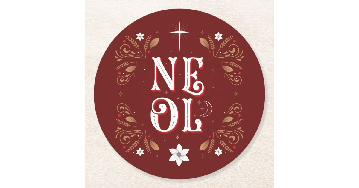 The First Noel Christmas Paper Coasters Zazzle Com