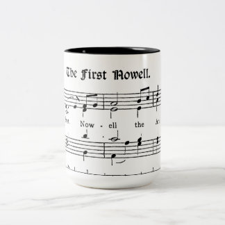 The First Noel, Old Print Sheet Music Coffee Mug