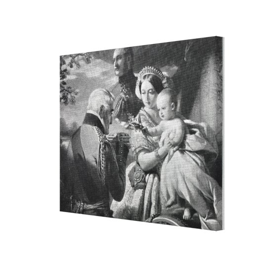 The First of May 1851, engraved by Werner Canvas Print