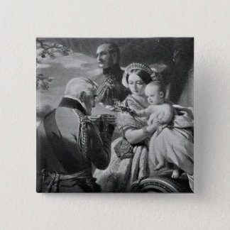 The First of May 1851, engraved by Werner Pinback Button