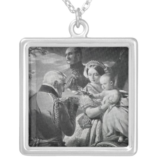 The First of May 1851, engraved by Werner Silver Plated Necklace