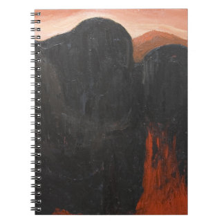 The First Offerings (abstract surrealism) Spiral Note Book