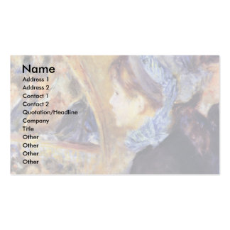 The First Output By Pierre-Auguste Renoir Business Cards