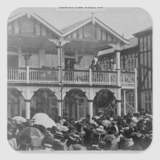 The first Phoenix Park Races, 1903 Square Sticker