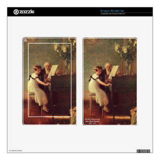 The First Piano Lesson by Muenier Kindle Fire Skin