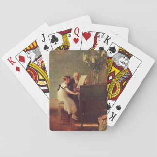 The First Piano Lesson by Muenier Playing Cards