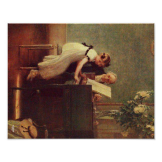 The First Piano Lesson by Muenier Poster